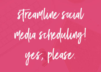 Streamline Social Media Scheduling Picture on pink background
