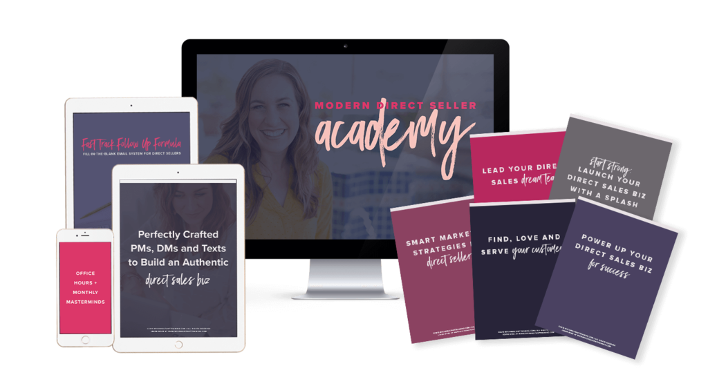 Modern Direct Seller Academy Display of Content on Screens and in E-books