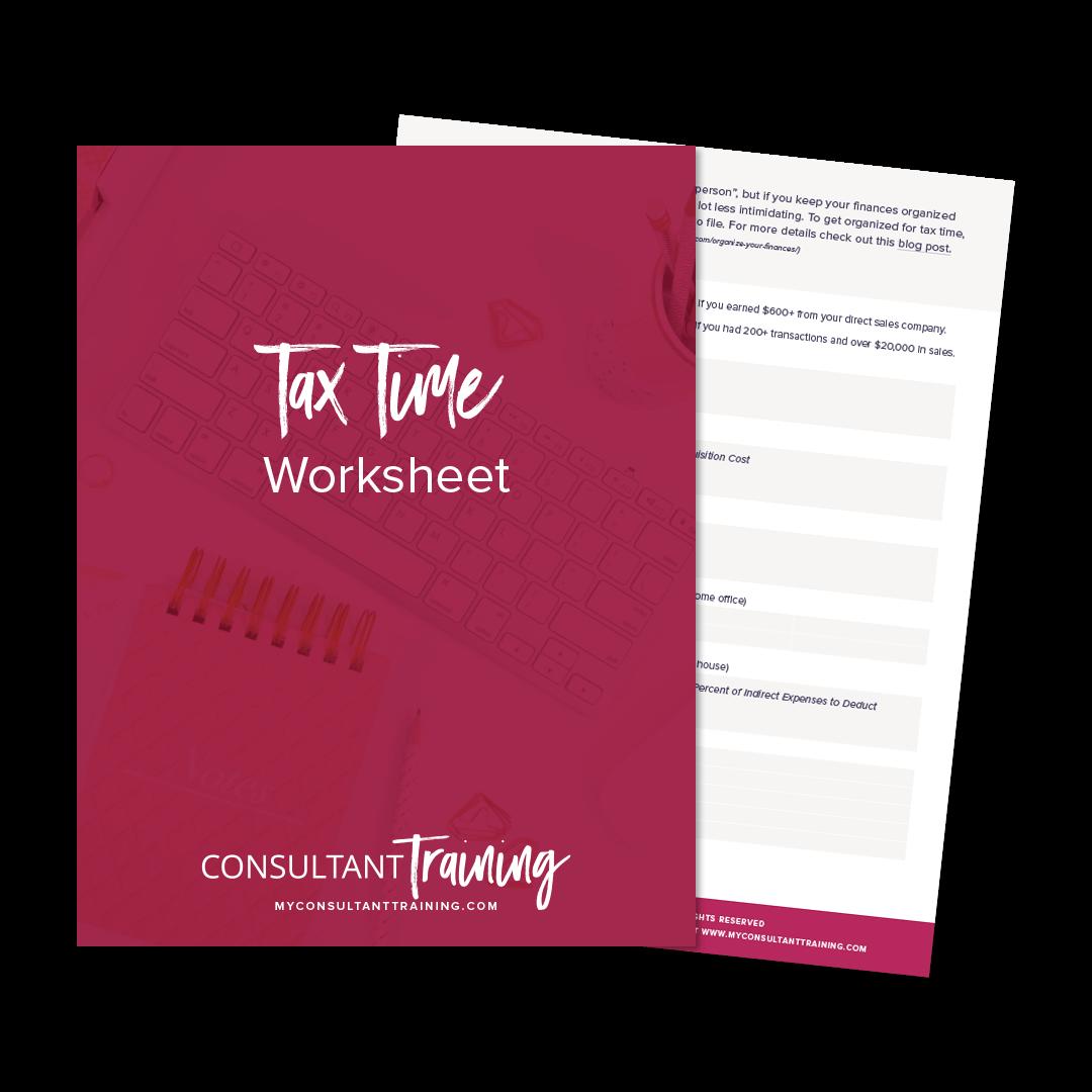 Free Tax Time Worksheet