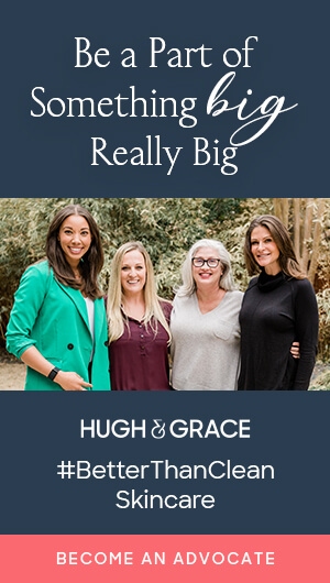Four women that are Hugh & Grace advocates standing together outside